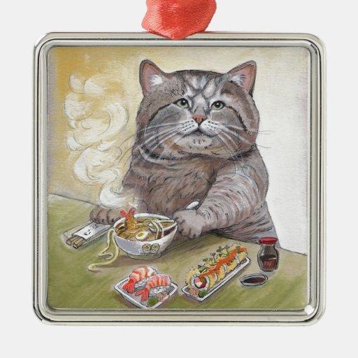 Sushi Cat Tempura Udon Ornaments