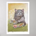 Sushi Cat Tempura Udon Posters