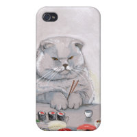 Sushi Cat - The Grump iPhone 4/4S Case