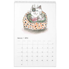 Sushi Cats 2016 Calendar at Zazzle