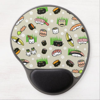 Sushi Characters Pattern Gel Mouse Pad