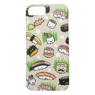 Sushi Characters Pattern iPhone 8/7 Case