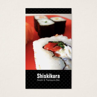 Sushi Chef Japanese Catering Business Cards