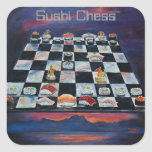 Sushi Chess Square Stickers