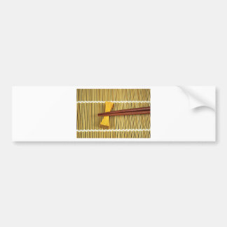 Sushi Chopsticks Sensei Masters Wood Bamboo Bumper Sticker