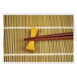 Sushi Chopsticks Sensei Masters Wood Bamboo Card