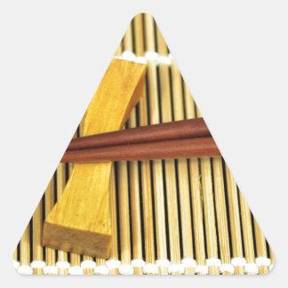 Sushi Chopsticks Sensei Masters Wood Bamboo Triangle Sticker