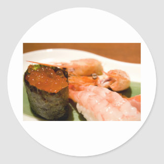 Sushi. Classic Round Sticker