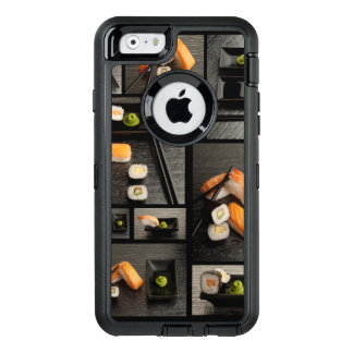 Sushi collection on black background OtterBox iPhone 6/6s case