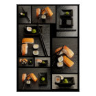 Sushi collection on black background poster
