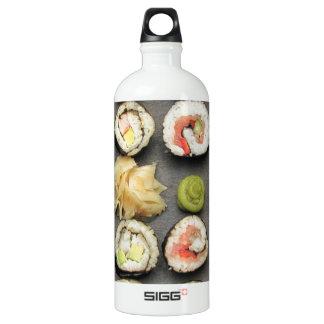 Sushi con Wasabi y el jengibre