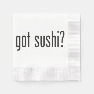 sushi conseguido servilleta desechable