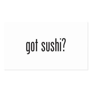sushi conseguido tarjetas de visita