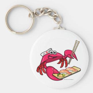 Sushi Crab Keychain