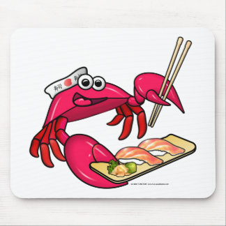 Sushi Crab Mouse Pads