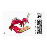 Sushi Crab Postage Stamp