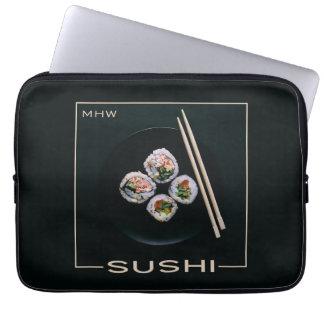 Sushi custom monogram laptop sleeves