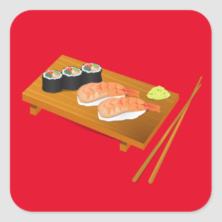 Sushi cute Japanese food Square Sticker