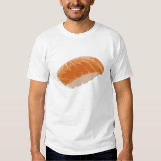 Sushi de color salmón de Nigiri Poleras