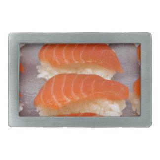 Sushi de color salmón - Sashimi Hebilla Cinturon Rectangular