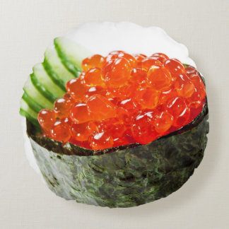 Sushi de Ikura (hueva de color salmón) Gunkan Maki Cojín Redondo