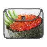 Sushi de Ikura (hueva de color salmón) Gunkan Maki Fundas Macbook Pro
