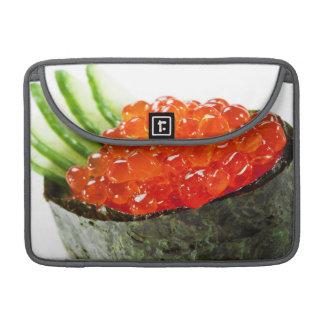 Sushi de Ikura hueva de color salmón Gunkan Maki Fundas Macbook Pro