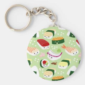 Sushi de Kawaii con las caras Llaveros Personalizados