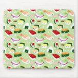 Sushi de Kawaii con las caras Tapetes De Raton