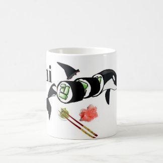 Sushi de la orca taza básica blanca