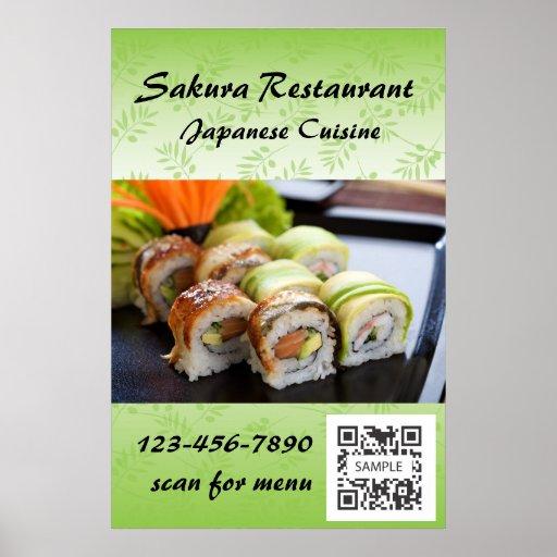 Sushi de la plantilla del poster