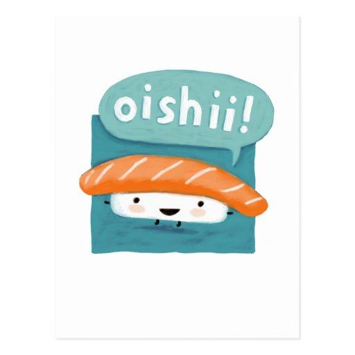 Sushi de Oishii Tarjetas Postales