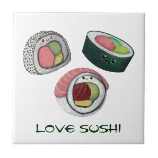 Sushi del amor azulejo ceramica