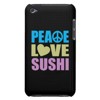 Sushi del amor de la paz Case-Mate iPod touch protectores