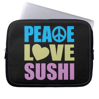 Sushi del amor de la paz fundas ordendadores