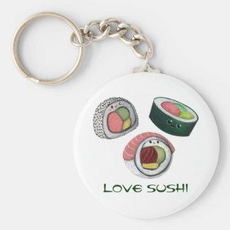 Sushi del amor llaveros