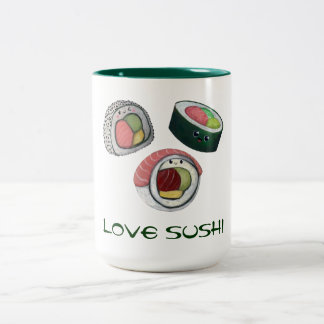 Sushi del amor taza