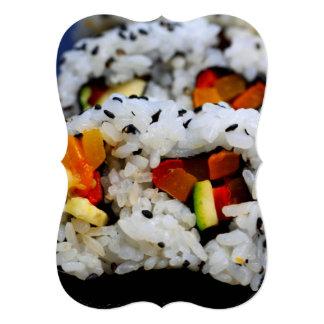 """Sushi del rollo de California Invitación 5"""" X 7"""""""