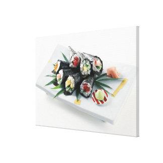 Sushi delicioso lona estirada galerias