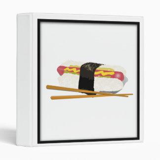Sushi Dog And Chopsticks 3 Ring Binders