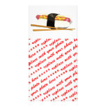 Sushi Dog And Chopsticks Picture Card