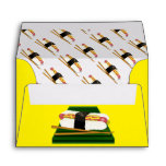 Sushi Dog on a Tray with Chopsticks Envelopes