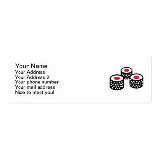 Sushi Double-Sided Mini Business Cards (Pack Of 20)