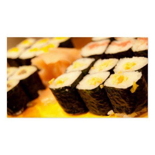 Sushi. Double-Sided Standard Business Cards (Pack Of 100)