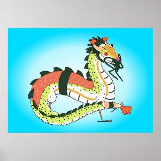 Sushi Dragon Poster