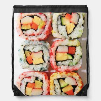Sushi Drawstring Backpack