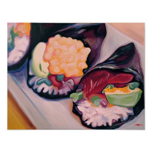 """""""Sushi en arte del poster de la pared"""""""