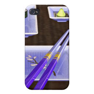 Sushi en azul iPhone 4/4S carcasas