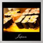Sushi en el poster de Japón