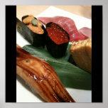 Sushi en Japón, cocina japonesa Póster